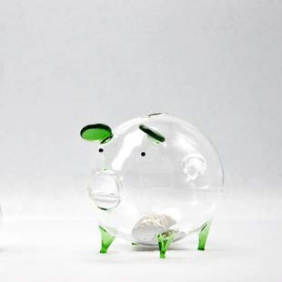 Antique Transparent (Taka Co Large Piggy Bank Green Brown Pink Blue Pig Piggy Bank Money Box Coin Saving Box Cute Transparent Glass Souvenir Birthday Gift for Children Kids)