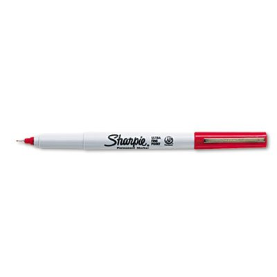 Sharpie Products - Sharpie - Permanent Markers, Ultra Fine Point, Red, Dozen - Sold As 1 Dozen - Extra precise, 0.2mm narrowed tip for extreme control and accuracy. - Permanent on most surfaces. - Quick-drying ink is waterproof, smearproof and (0.2 Mm Point)