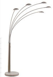 88 H Gold Metal 5 Arm Floor Lamp With Marble Base Amazon Com