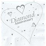 5X 18 x Luxury Diamond 60th Wedding Anniversary Party Napkins