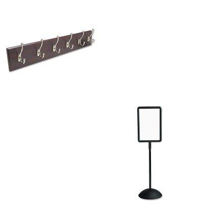 KITSAF4117BLSAF4217MH - Value Kit - Safco Wall Rack (SAF4217MH) and Safco Double Sided Sign (SAF4117BL)