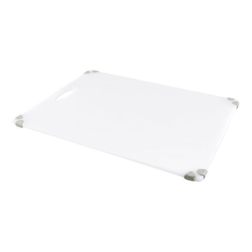 18'' x 24'' White Durable Plastic Cutting Board – Rubber Corner Grips Prevent Slipping – Color-Coded for HACCP Food Safety Compliance – Measurement Markers for Precise Cutting – Dishwasher Safe – 1-CT by Restaurantware