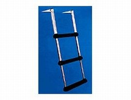 Windline TDL-3 Marine Over Platform Telescoping Boat Ladder with 3 Steps ()