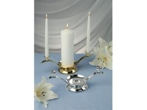 Beverly Clark Unity Candles - Beverly Clark 10-129 Tri-Unity Candleholder