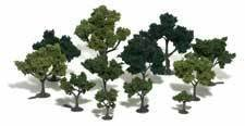 REALISTIC TREES KITS(TM) - GREEN DECIDUOUS -- MIXED GREEN - 3 TO 5
