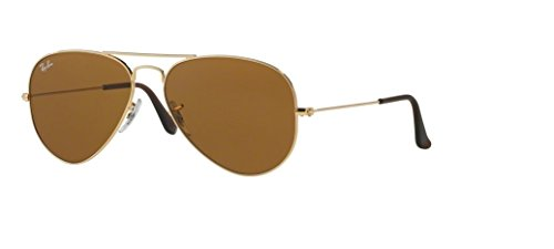 Ray Ban RB3025 001/33 58M Gold/ Brown Aviator + FREE Complimentary Eyewear Care - Aviator Ray Brown Bans