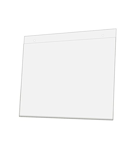 (Marketing Holders Sign Holder 11w x 8.5h Inch Horizontal Wall Mount Ad Frame Display for Business Store Restaurant School Clear Acrylic Value Pack of 10)