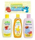 Sesame Street New Beginnings 3 Pc. Bundle Baby Care Gift Set