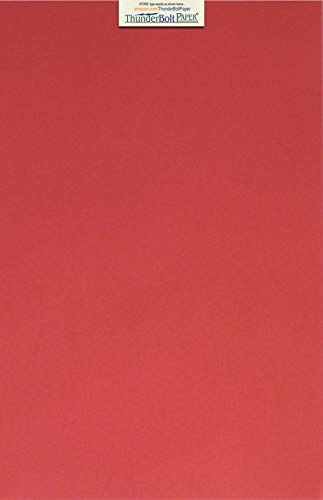 25 Darker Bright Red Cardstock 65lb Cover Paper 11