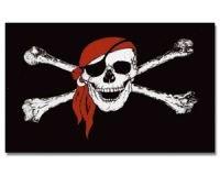 Piraten Fahne Flagge Pirat Rote Bandana Gr. 1,50x0,90m - FRIP -Versand®