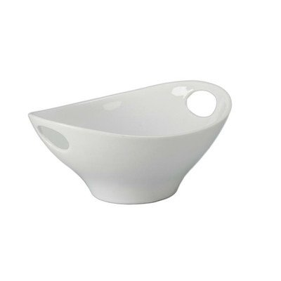 Oval Bowl with Handles [Set of 4] - Bowl White Oval