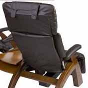 Back Cover for The Human Touch Perfect Chair Recliner Black Leather Match Vinyl - Interactive Health Zero Anti Gravity Chair Back Cover