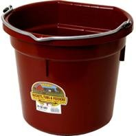 LITTLE GIANT PLASTIC FLAT BACK BUCKET - 20 QUART - BURGUNDY - 1 Bucket