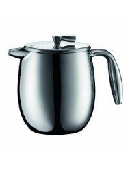 Bodum Columbia 4 Cup Stainless Steel Thermal Vacuum Coffee Press, 0.5 l, 17-Ounce (Bodum Vacuum Coffee)