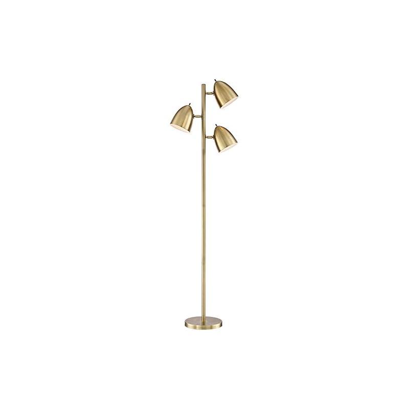 Aaron Aged Brass 3-Light Floor Lamp