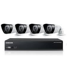 SAMSUNG SDS-P3042 4 canales DVR de 1TB HDD SISTEMA DE SEGURIDAD CON 4 CAMARAS