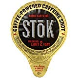 SToK Caffeinated Black Unsweetened Cold Brew Coffee Shots - With Exclusive RiverFinn Coffee Stirrer Sticks (120)