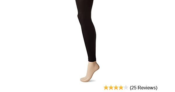 067d0af2a6053 HUE Women's Super Opaque Footless Tights W/Control Top, Black, 1 at ...