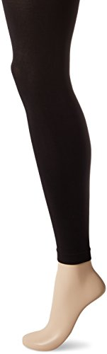 HUE Women's Super Opaque Footless Tights with Control Top, Black, ()