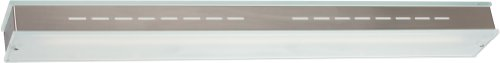 ET2 Lighting E22130-10 Contempra 1-Light 36-Inch Wall Mount Sconce, Brushed Aluminum with Clear/White