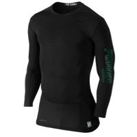 Nike Mens Pro Combat Hypercool Vapor Power Compression Shirt Black