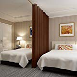 Blind Room Divider - RHF Privacy Room Divider Curtain 8.5ft Wide x 9ft tall: No one can see through, Total Privacy(8.5x9 Chocolate)