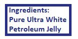 Vaseline Pure Ultra White Petroleum Jelly, Kendall, 3-pack, 3.25 oz. each