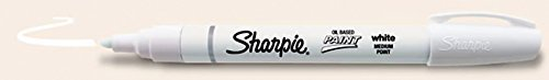 Sharpie Oil-Based Paint Marker, Medium Point, White Ink, Pack of 12 (White Marker Uni Paint Oil)