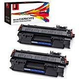JetSir Compatible for HP 05A CE505A Toner Cartridges 2-Pack,Use for HP Laserjet P2035 P2055DN 2035 P2035N P2055D P2055 2035N Printer (Hp Laserjet P2035 Toner)