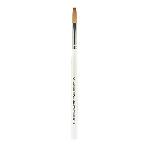 Silver Brush 2411S-10/0 Ultra Mini Short Handle Golden Taklon Brush, One Stroke, Size 10/0