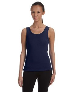 Bella+Canvas Ladies' Baby Rib Tank Top - Navy - XL