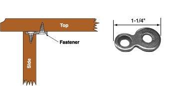 Figure 8 Table Top Connector or Desk Top Fastener Clip Heavy Duty 12 Gauge Steel - 30 pack