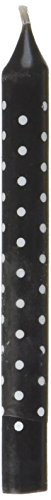 (Wilton 2811-7494 12 Count Black and White Polka Dot Birthday Candle)