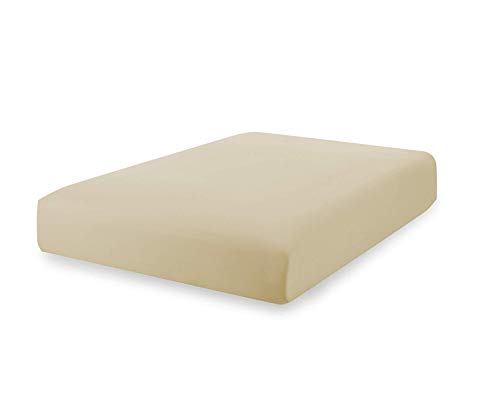 Superior Linen - Fitted Sheets 100% Cotton, 200 Thread Count. Cool Breathable, Soft and Comfortable. (Full, Cream)