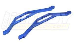 (Integy RC Model Hop-ups T3850BLUE Aluminum Lower Chassis Braces for E/T-Maxx (3906, 4909, 4910) (L=213mm))