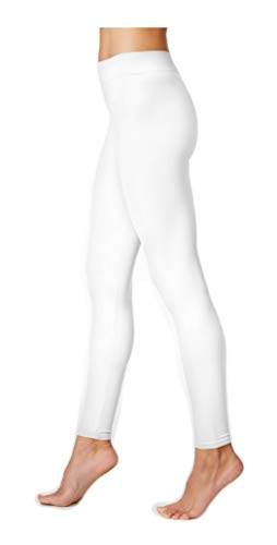 HUE First Looks Seamless Legging/Footless Tights (L/XL: (14-18), White)