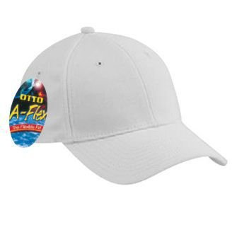OTTO Wholesale 12 x A-Flex Stretchable Deluxe Wool Blend Low Profile Baseball Cap - White - (12 Pcs)