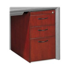 Mayline Corsica 3 Drawer Pedestal File for Credenza/Return - Mahogany by Mayline