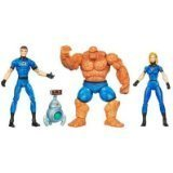 Marvel Universe 3 3/4 Inch Action Figure 3Pack Fantastic Four Invisible Woman, Mr. Fantastic Thing with H.E.R.B.I.E by Hasbro -