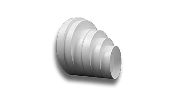 Pieza reductora asimétrica, conector reductor de reducción, tubo de transición, redondo, PVC, ventilación: Amazon.es: Bricolaje y herramientas