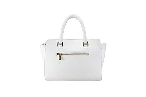 Leather Ladys Handbag Fereti Women White Genuine Ladies Satchel Tote Designer wxxqPv4a