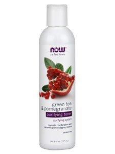 NOW Green Tea Pomegranate Purifying Toner,8-Ounce (Purifying Toner)