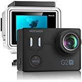Neewer G2 Ultra HD 4K Action Camera with Touch Screen: 12MP 4K/30FPS EIS 98ft Waterproof Camera 170 Degree Wide Angle WiFi Sports Cam and 2-inch Screen with Battery and Mounting Accessory Kit (Black)