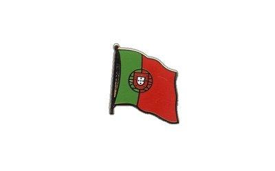 Flaggen-Pin//Anstecker Portugal vergoldet