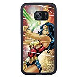 Edge Womens Collection Mobile (Wonder Woman Black Shell Phone Case Fit For Samsung Galaxy S7 Edge,Beautiful Cover)