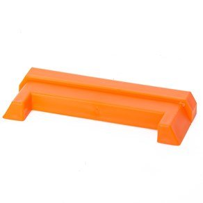 DC Cargo Mall Durable Orange Plastic End Protector Cover Cap for Horizontal E Track Tie-Down Rails in Trailers, Vans, Trucks, and - Orange In Malls