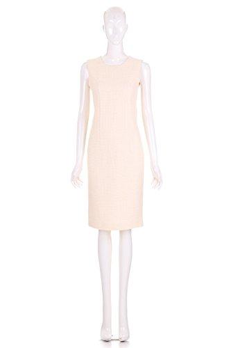 ARTEMIS Women's Sleeveless Tweed Sheath Dress (Cream, Medium) - Artemis Cream