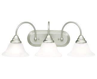 Kichler 10609NI Telford Bath 3-Light Fluorescent, Brushed Nickel