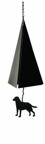 North Country Wind Bells Nantucket Bell Windcatcher with Black Lab