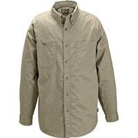 Gravel Gear Wrinkle-Free Long Sleeve Work Shirt with Teflon - Khaki, Medium by Gravel Gear (Image #1)